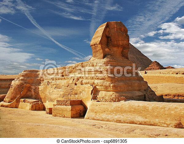 ピラミッド, スフィンクス - csp6891305