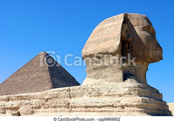 ピラミッド, スフィンクス - csp9969952