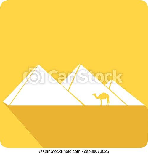 ピラミッド, ベクトル, イラスト, エジプト人 - csp30073025