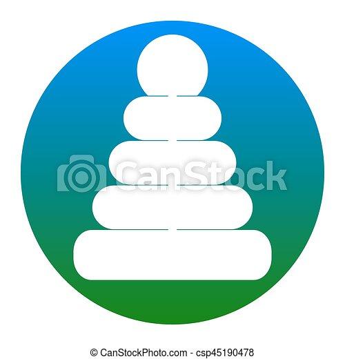 ピラミッド, illustration., isolated., 印, バックグラウンド。, vector., 白, 薄青い, 円, アイコン - csp45190478