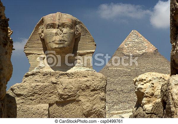 ピラミッド, sphynx - csp0499761