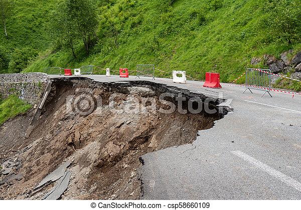 ピレネー山脈, 道, 崩壊, フランス語 - csp58660109
