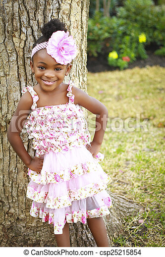 ピンクの花, レース, 無作法, 女の子, 服 - csp25215854
