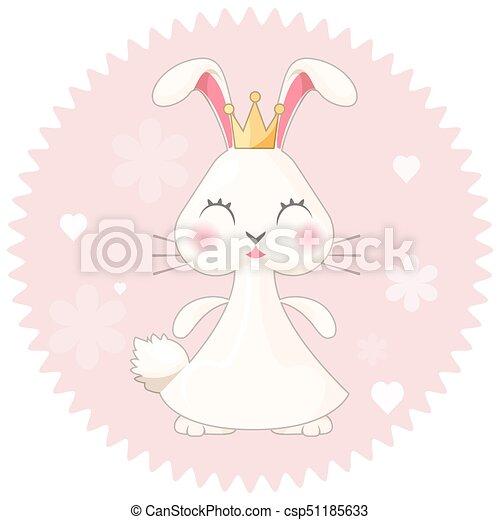 ピンク かわいい イラスト うさぎ ベクトル 女の子 花 王女