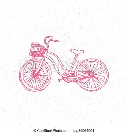 ピンク かわいい ベクトル 自転車 バックグラウンド 隔離された