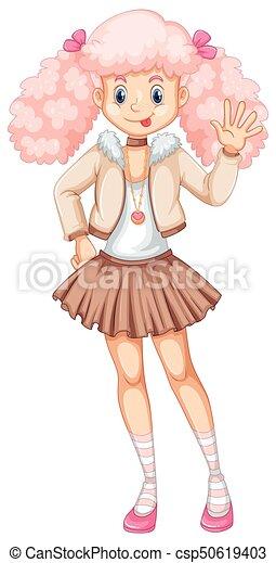 ピンク かわいい 女 毛 ピンク かわいい 毛 女の子 イラスト