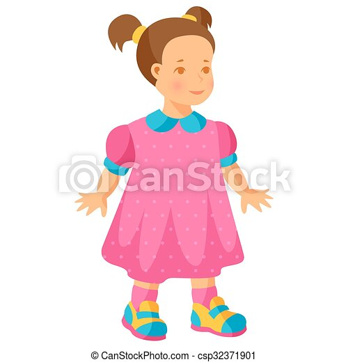ピンク わずかしか イラスト かわいい少女 服 ピンク わずかしか