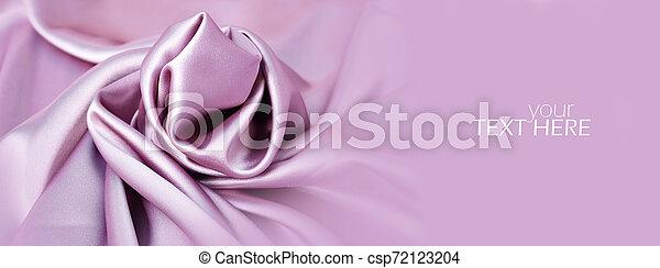 ピンク, コピースペース, 材料, 絹, サテン - csp72123204