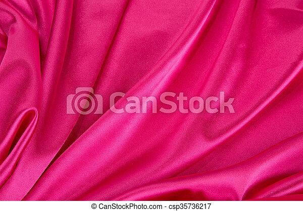 ピンク, バックグラウンド。, 絹 - csp35736217