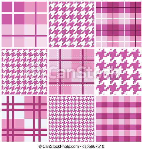 ピンク, パターン, seamless, コレクション - csp5667510