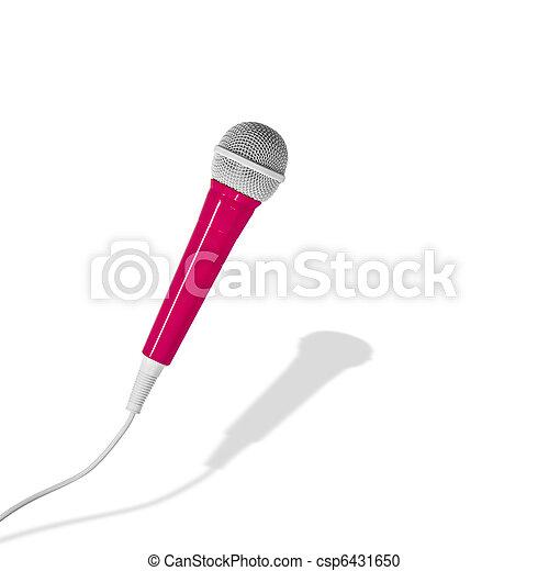 ピンク, マイクロフォン - csp6431650