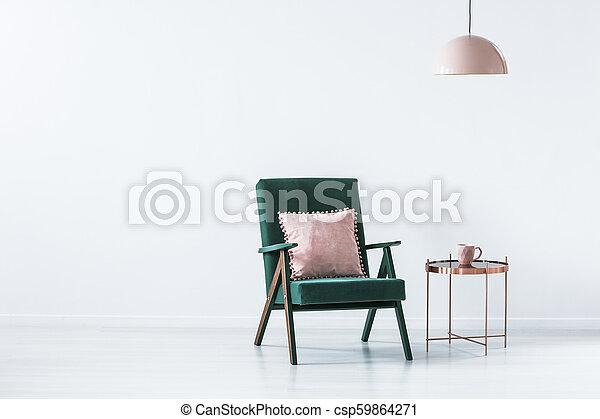 ピンク, 内部, 緑, 単純である - csp59864271