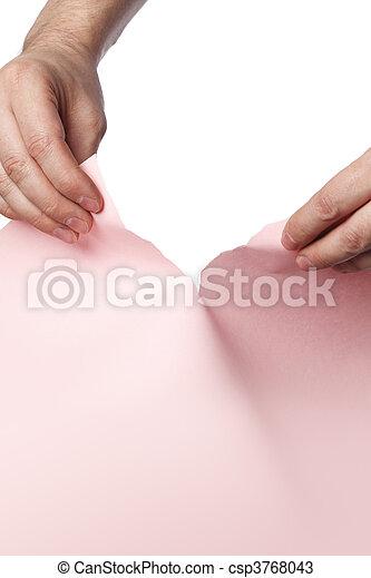 ピンク, 引き裂くこと - csp3768043