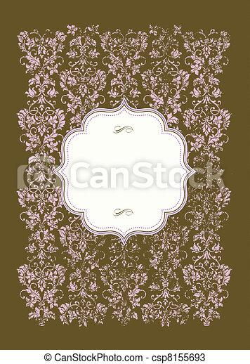 ピンク, 悲嘆させられた, フレーム, ベクトル, 背景 - csp8155693