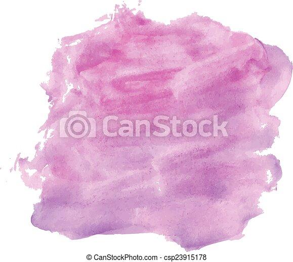 ピンク, 新たに, 水彩画, 活気に満ちた - csp23915178