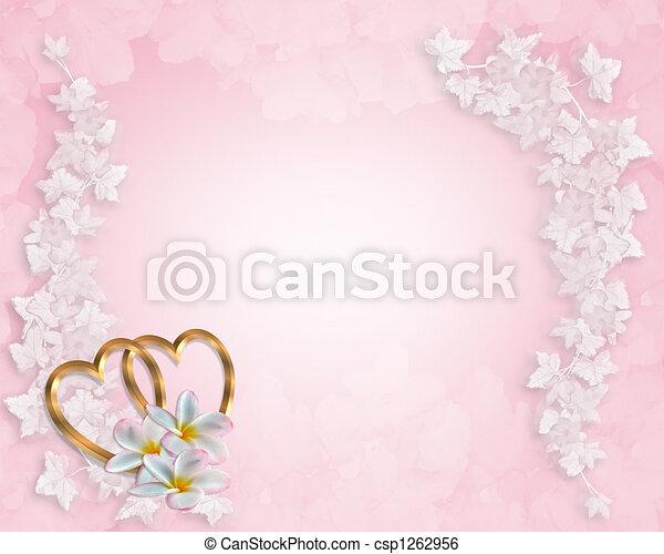 ピンク, 結婚式, 背景, 招待 - csp1262956
