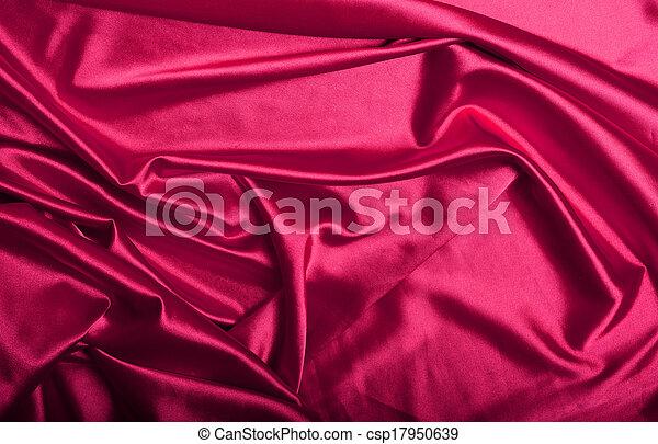 ピンク, 絹, 背景 - csp17950639