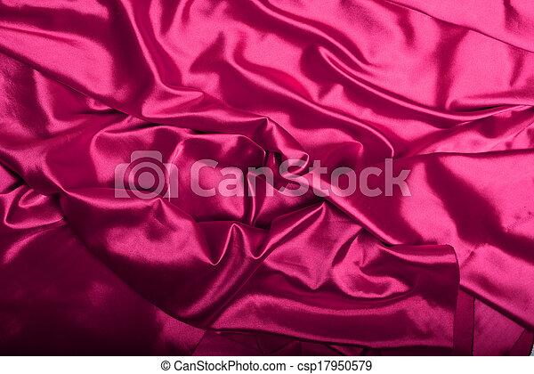ピンク, 絹, 背景 - csp17950579