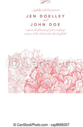 ピンク, 花, ベクトル, 背景 - csp8666307
