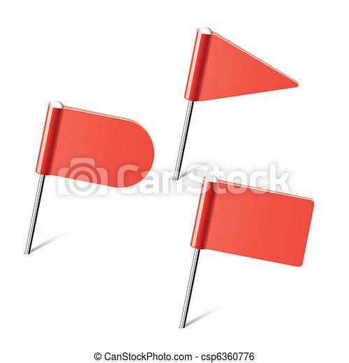 ピン, 旗, 赤 - csp6360776