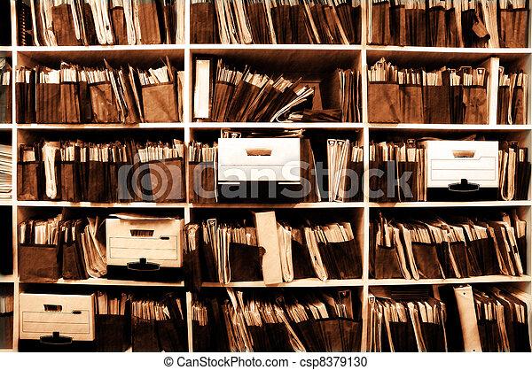 ファイル, 棚 - csp8379130