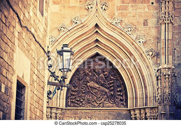 ファサド, バルセロナ, 教会 - csp25278035