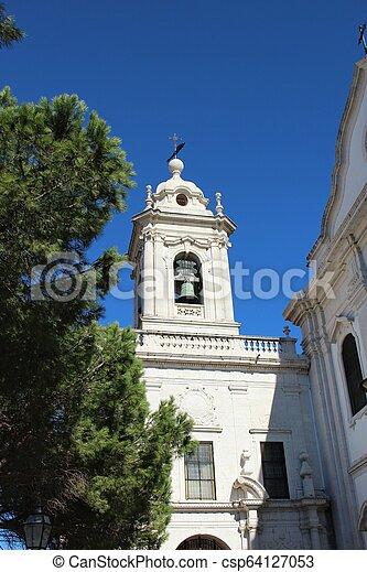 ファサド, リスボン, 大理石, 教会 - csp64127053