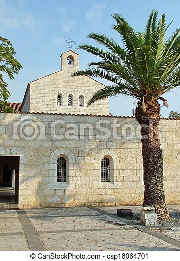 ファサド, 乗算, 教会, tabgha - csp18064701