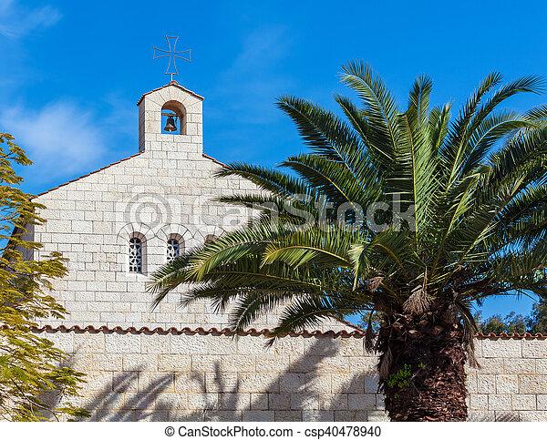 ファサド, 乗算, 教会, tabgha - csp40478940