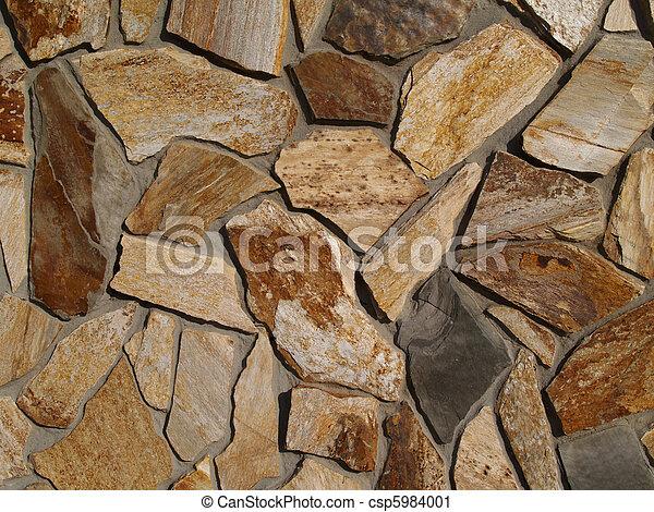 ファサド, 平ら, 石, 多彩 - csp5984001