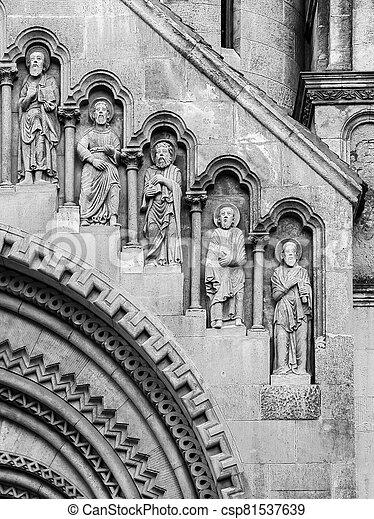 ファサド, 教会, jak, ブダペスト - csp81537639