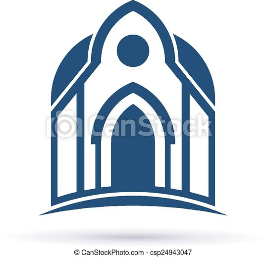 ファサド, cupula, 教会, アイコン - csp24943047