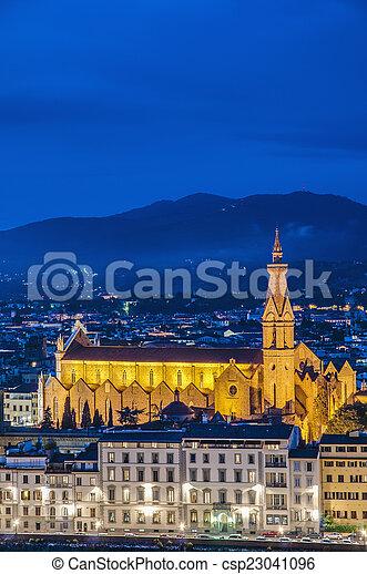 フィレンツェ, バシリカ, イタリア, 交差点, 神聖 - csp23041096