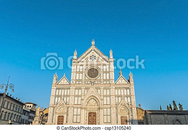 フィレンツェ, バシリカ, イタリア, 交差点, 神聖 - csp13105240