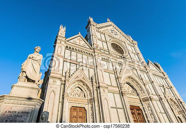 フィレンツェ, バシリカ, イタリア, 交差点, 神聖 - csp17560238