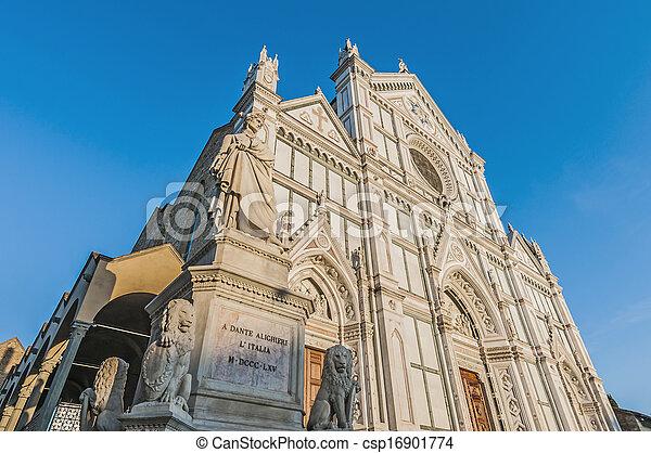 フィレンツェ, バシリカ, イタリア, 交差点, 神聖 - csp16901774