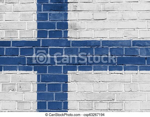 フィンランド, 壁, フィンランドの旗, 政治, concept: - csp63267194