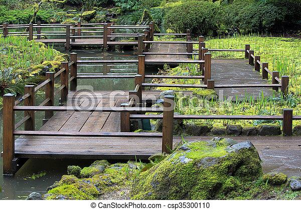 フィート橋, 日本の庭 - csp35300110