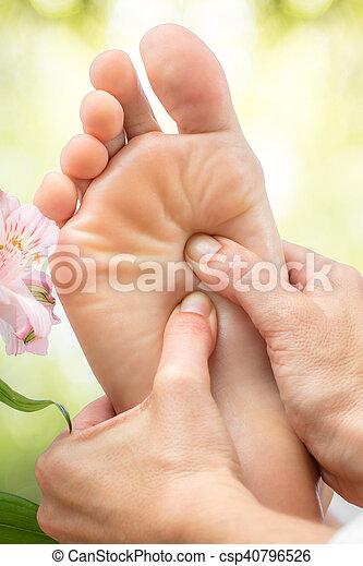 フィート, マクロ, massage., 終わり - csp40796526