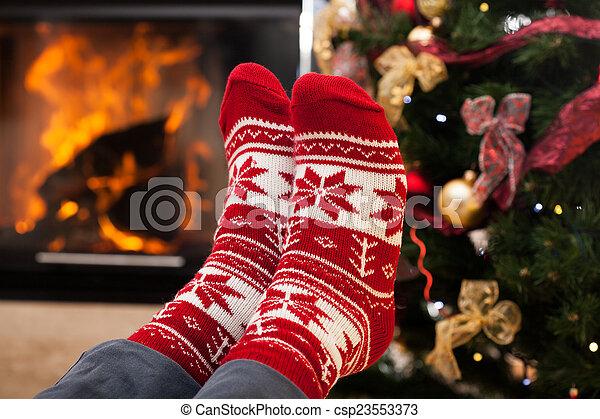 フィート, 暖まること - csp23553373