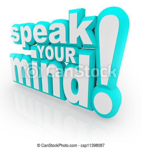 フィードバック, 心, 励ましなさい, 言葉, 3d, あなたの, 話す - csp11398087