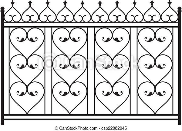 フェンス, グリル, ドア, 窓, デザイン, 鉄, 手すり, 細工された, 門 - csp22082045