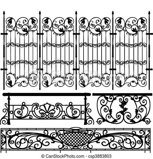 フェンス, コレクション, (vector) - csp3883803
