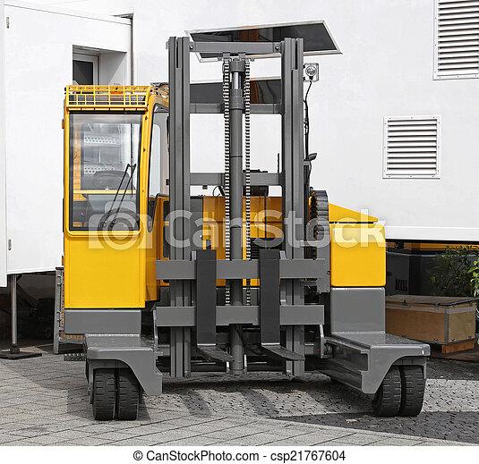 フォークリフト, 側, 積込み機 - csp21767604