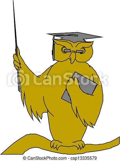 フクロウ, 教師 - csp13335579