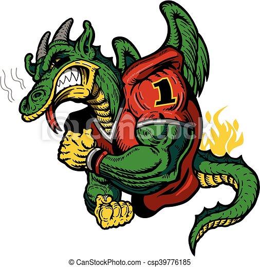 フットボール, ドラゴン - csp39776185