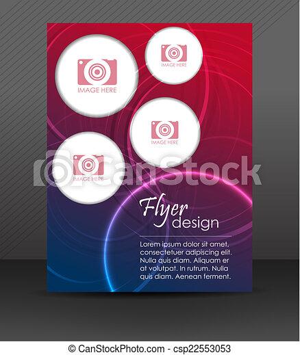 フライヤ, ビジネス, テンプレート - csp22553053