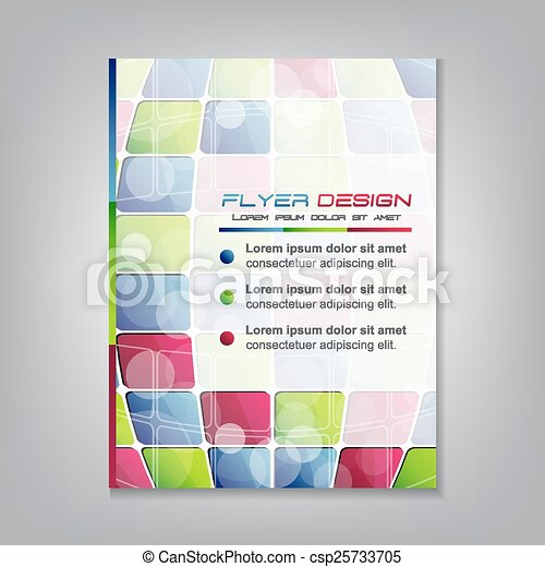フライヤ, ビジネス, テンプレート - csp25733705