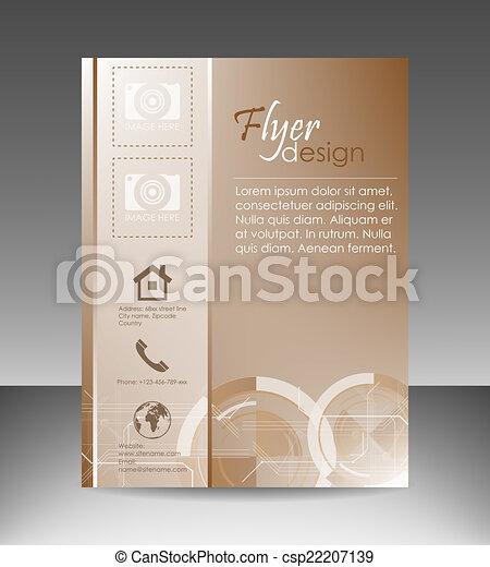 フライヤ, ビジネス, テンプレート - csp22207139