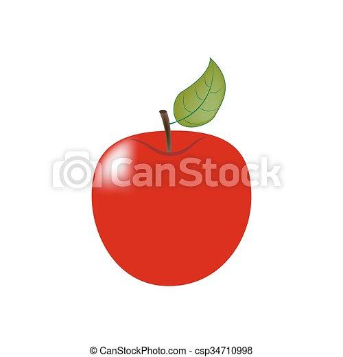 フルーツ, アップル, アイコン - csp34710998